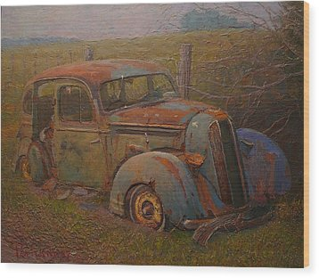Yesteryear Wood Print by Terry Perham