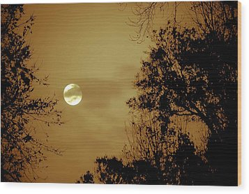 Yesteryears Moon Wood Print by DigiArt Diaries by Vicky B Fuller
