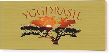 Yggdrasil- The World Tree Wood Print