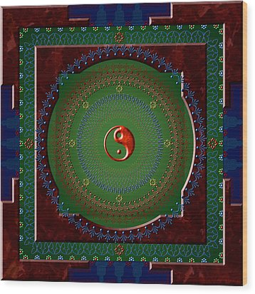 Yin Yang Wood Print by Stephen Lucas