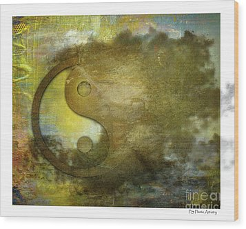 Ying And Yang Unbalanced Wood Print