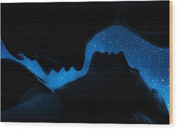 Ying-yang Wood Print by Sue M Swank