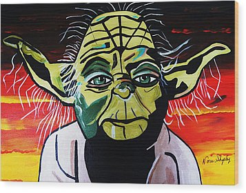 Yoda  Come Home Wood Print