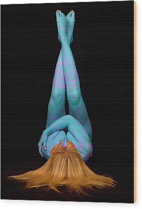 Yoga 2 Wood Print