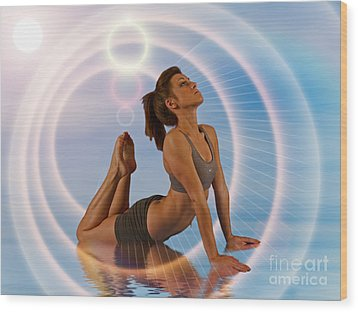 Yoga Girl 1209206 Wood Print by Rolf Bertram