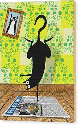 Yoga Mat Wood Print by Andrew Hitchen