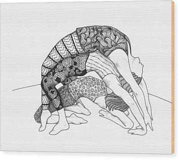 Yoga Sandwich Wood Print by Jan Steinle