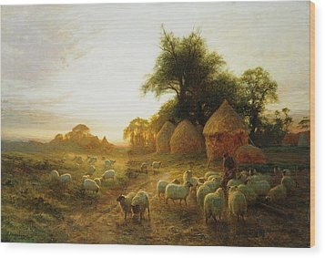Yon Yellow Sunset Dying In The West Wood Print by Joseph Farquharson