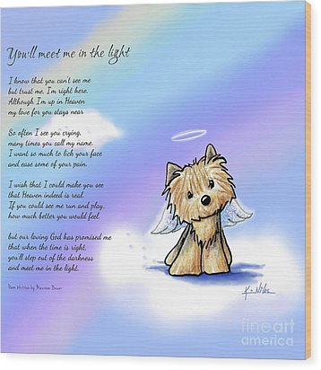 Yorkie Memorial Wood Print by Kim Niles