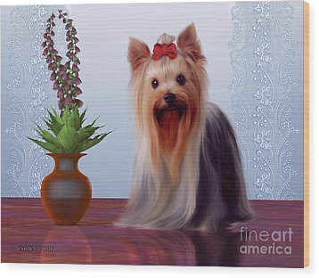 Yorkshire Terrier Wood Print by Corey Ford