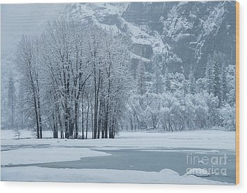 Wood Print featuring the photograph Yosemite - A Winter Wonderland by Sandra Bronstein