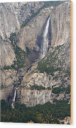 Wood Print featuring the photograph Yosemite Falls by Lynn Bawden