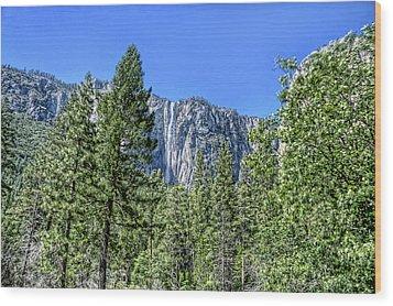 Yosemite Falls2 Wood Print by Michael Cleere