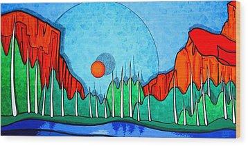 Yosemite Wood Print by Jason Charles Allen
