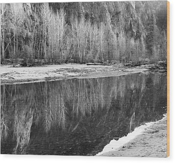 Wood Print featuring the photograph Yosemite  by Lora Lee Chapman