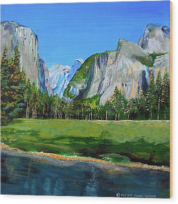 Yosemite National Park In The Spring Wood Print by Charles and Stacey Matthews
