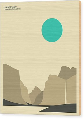 Yosemite National Park Wood Print by Jazzberry Blue