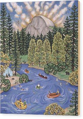 Yosemite National Park Wood Print by Linda Mears
