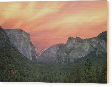 Yosemite - Red Valley Wood Print by Francesco Emanuele Carucci