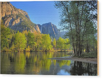 Wood Print featuring the photograph Yosemite Reflections by Kim Wilson