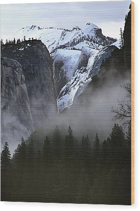 Wood Print featuring the photograph Yosemite Storm by Art Shimamura
