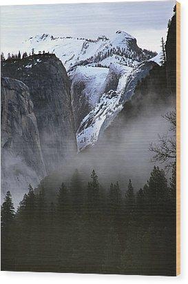 Yosemite Storm Wood Print