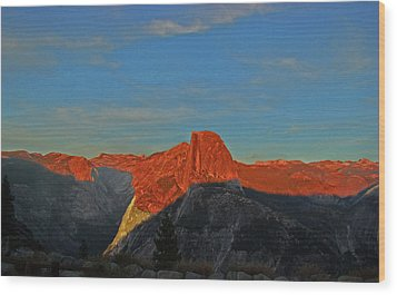 Wood Print featuring the photograph Yosemite Summer Sunset Abstracted 1 by Walter Fahmy