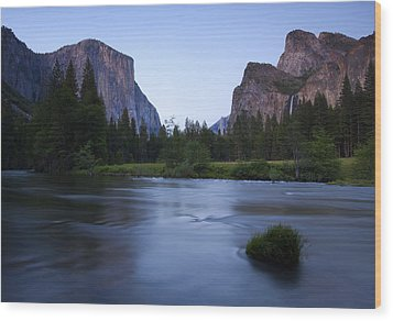 Yosemite Twilight Wood Print by Mike  Dawson