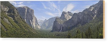 Yosemite Valley Wood Print by Francesco Emanuele Carucci