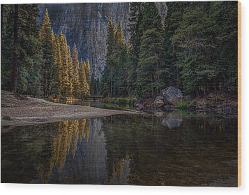 Yosemite Valley Reflections 1 Wood Print
