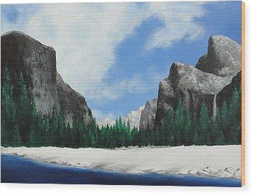Yosemite Valley Wood Print by Robert Plog