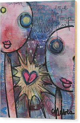 You Are Always In My Heart  Wood Print by Laurie Maves ART