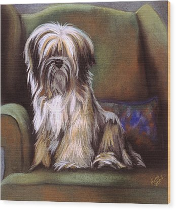 You Are In My Spot Again Wood Print by Barbara Keith