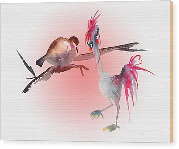 You Are Just My Type Wood Print by Miki De Goodaboom