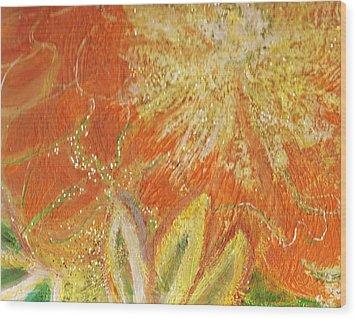 You Are My Sunshine Flower Wood Print by Anne-Elizabeth Whiteway