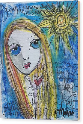 You Are My Sunshine  Wood Print by Laurie Maves ART