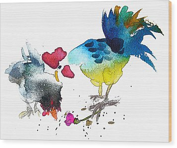 You Are My Sweet Heart Wood Print by Miki De Goodaboom