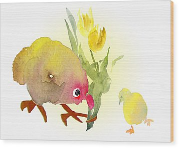 You Are The Cutest Thing Ever Wood Print by Miki De Goodaboom