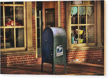 You Got Mail Wood Print by Todd Hostetter