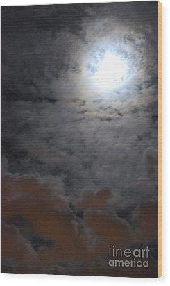 You Just Got Mooned Wood Print by Joy Bradley