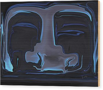 Wood Print featuring the digital art You N Me by Rabi Khan