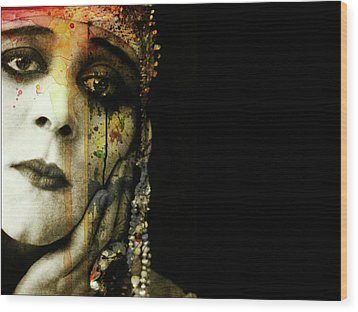Wood Print featuring the mixed media You Never Got To Hear Those Violins by Paul Lovering