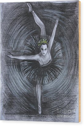 You Think You Can Dance Wood Print by Anna  Duyunova