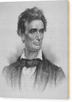 Young Abe Lincoln Wood Print by War Is Hell Store