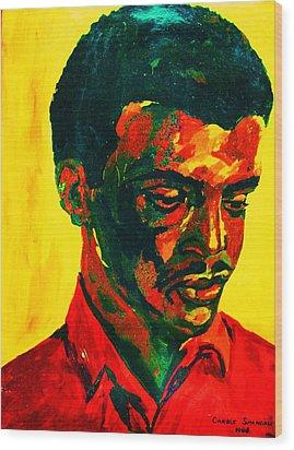 Young African Man Wood Print by Carole Spandau