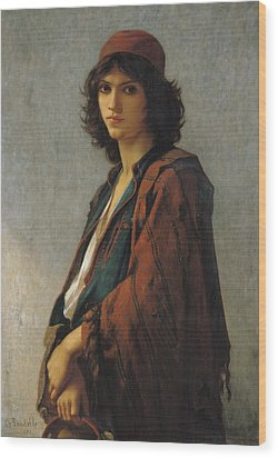 Young Bohemian Serb Wood Print by Charles Landelle