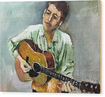 Young Dylan 1 Wood Print by Udi Peled