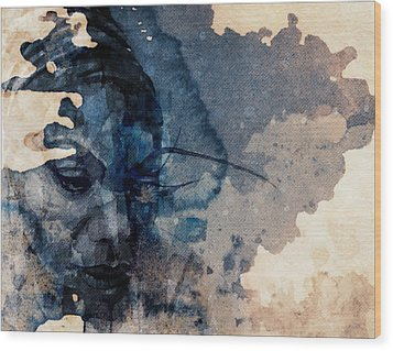Wood Print featuring the mixed media Young Gifted And Black - Nina Simone  by Paul Lovering