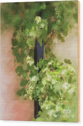 Wood Print featuring the digital art Young Greek Wine by Lois Bryan