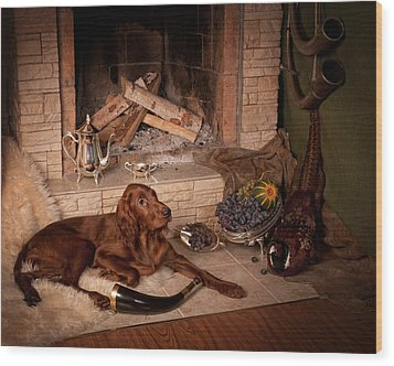 Young Irish Setter Wood Print